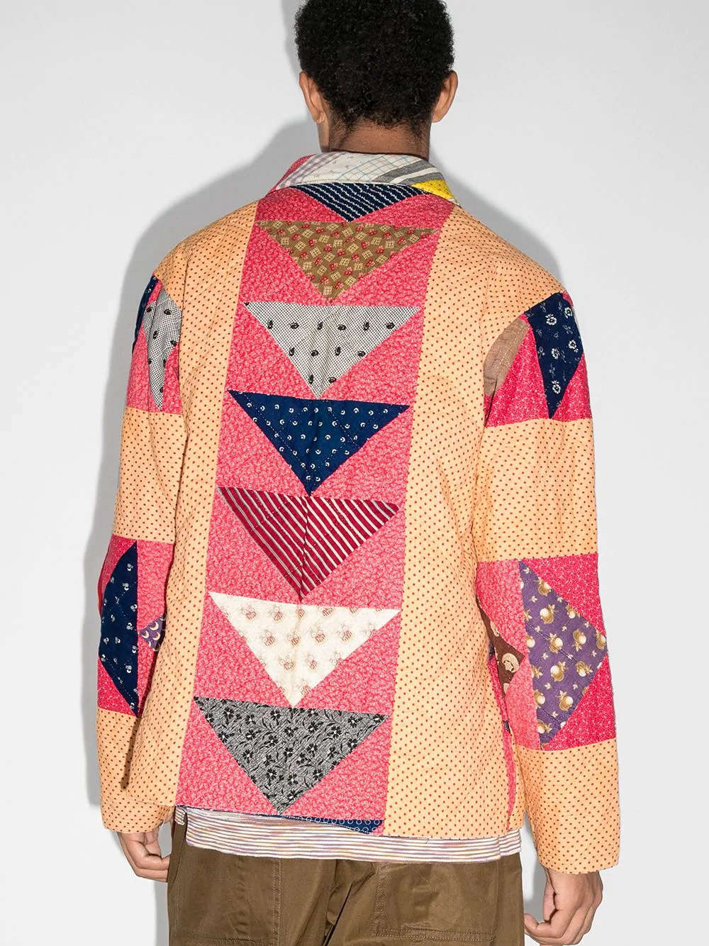 A Bode Patchwork Quilted Jacket from Farfetch. Mindful of resources, Bode writes: &#8