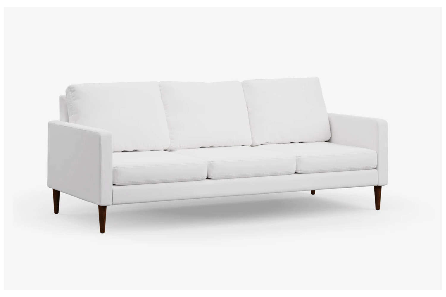 The Campaign Sofa shown in Pearl White Flat Weave upholstery is $loading=