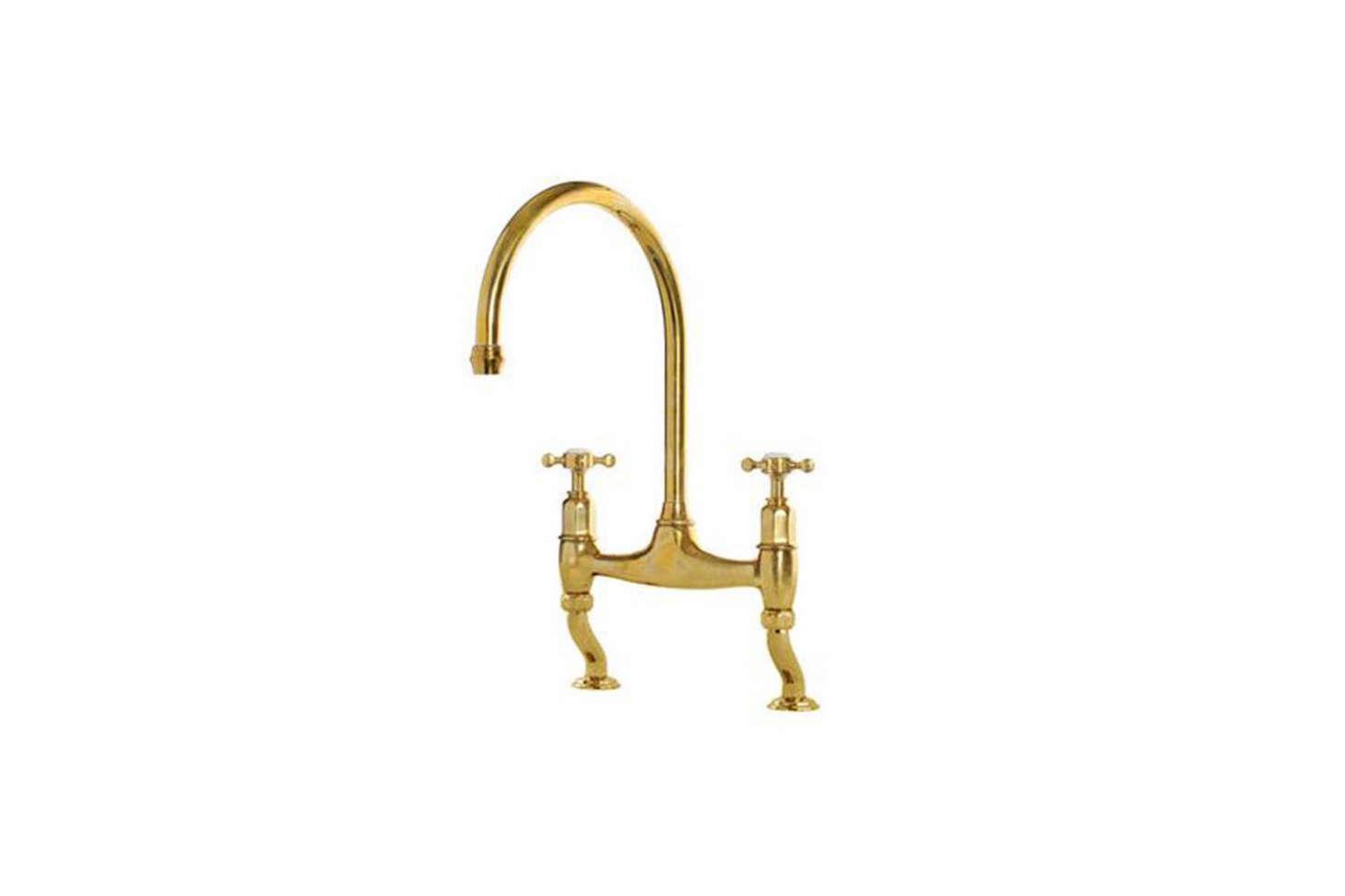 The deVOL Aged Brass Ionian Tap by Perrin & Rowe is $src=