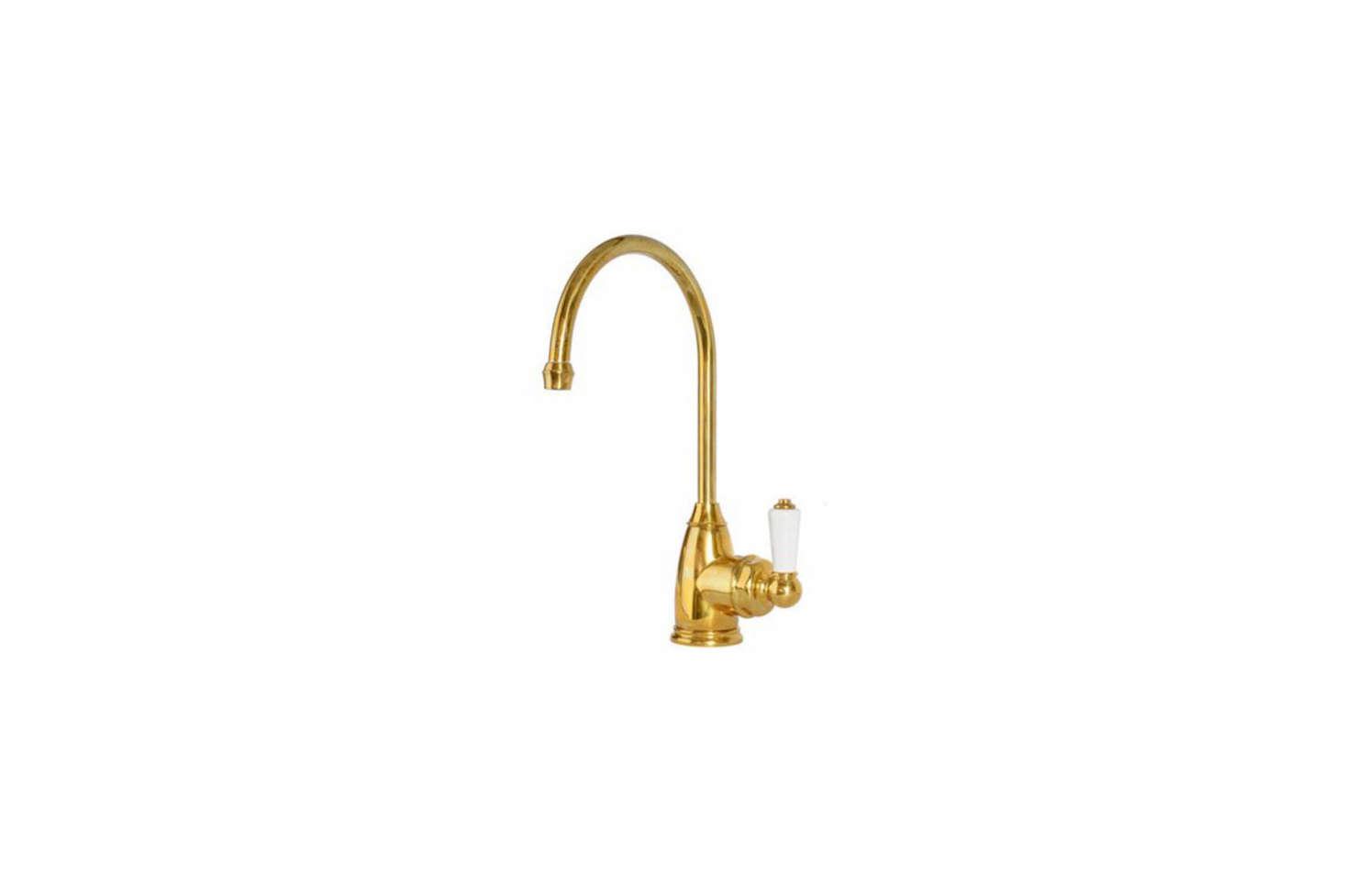 The deVOL Aged Brass Parthian Mini Instant Hot Tap is $