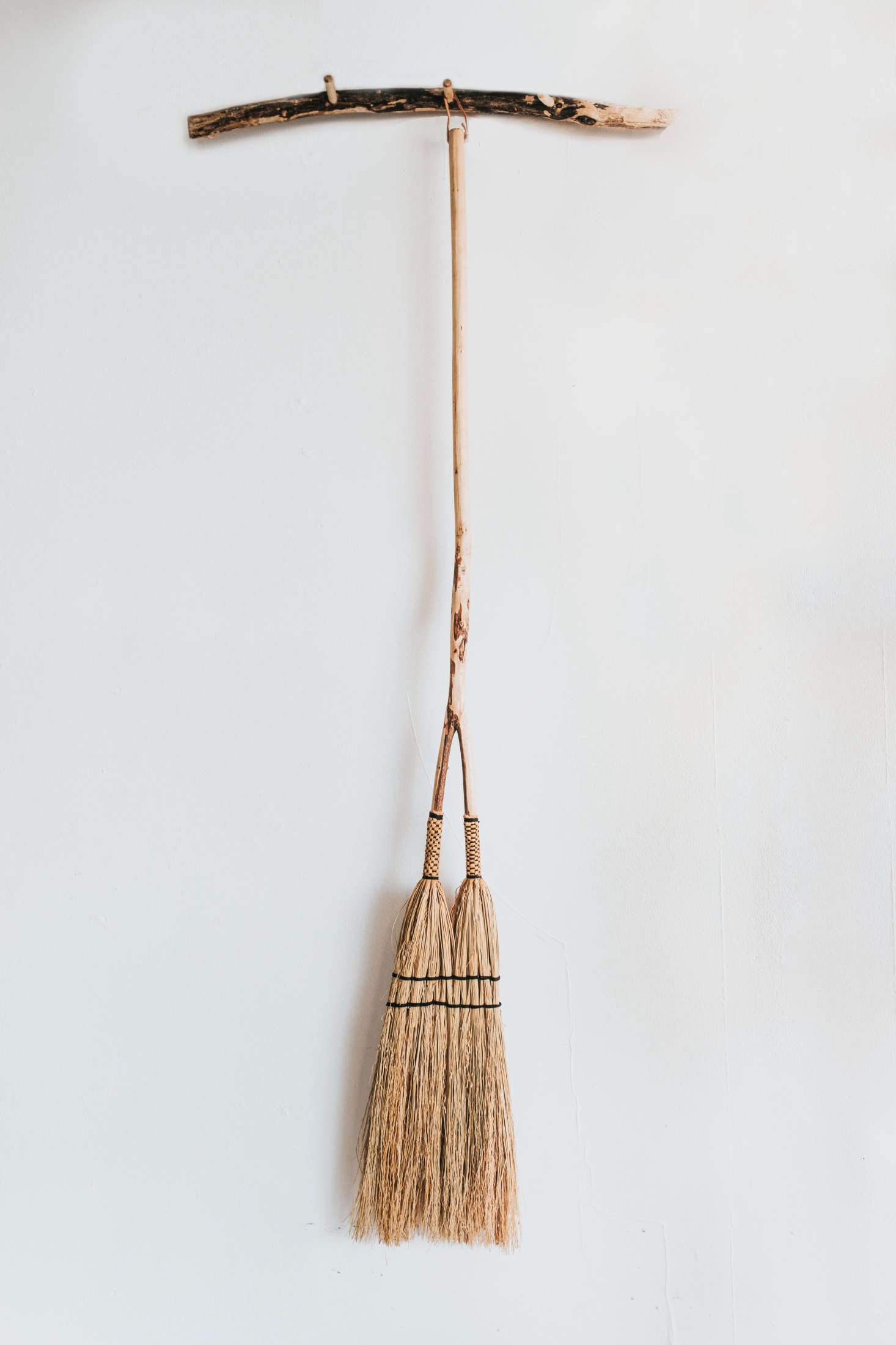 Two brooms in one: Each Double Broom ($95) is custom made.