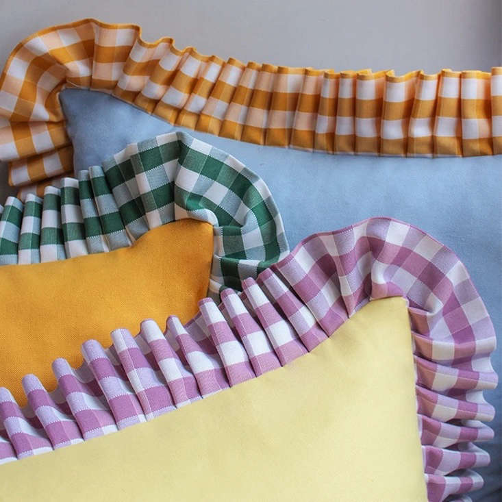 Gingham Ruffle Cushions are a collaboration between In Casa by Paboy and UK interiors shop By Alice. They&#8