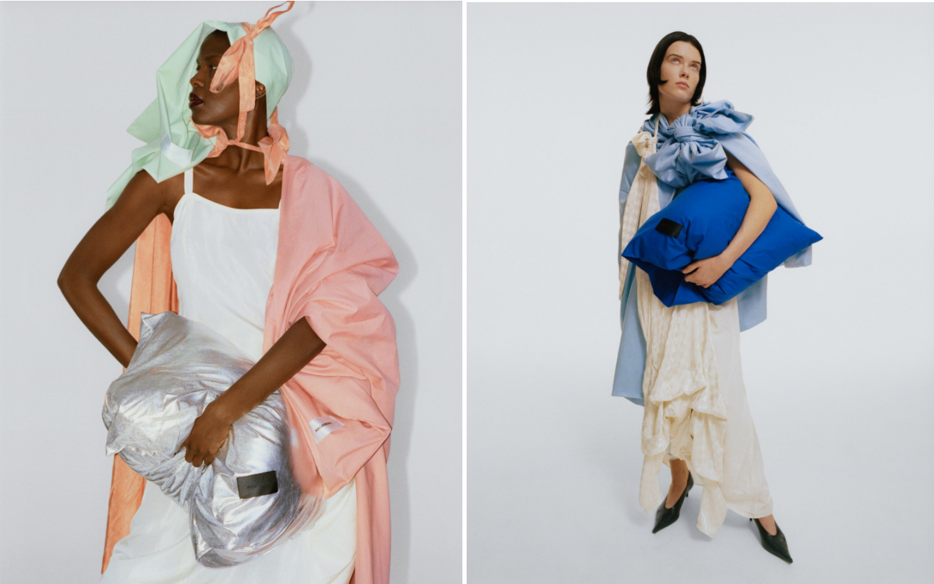 Models draped in pieces from the Candy Shop collection. . Photo by Hedvig Jenning with styling by Martina Almquist.
