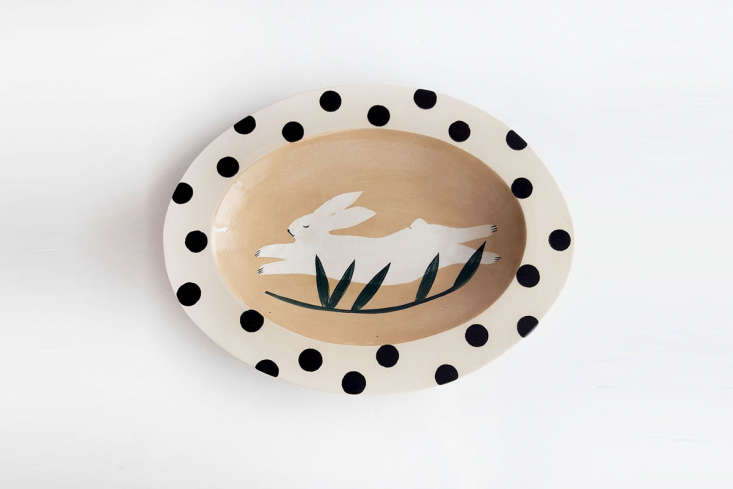 The charming Peaceful Rabbit Dish is €70.
