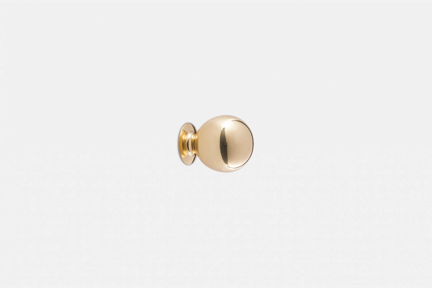 The Ball Cabinet Knob in unlacquered brass is $src=