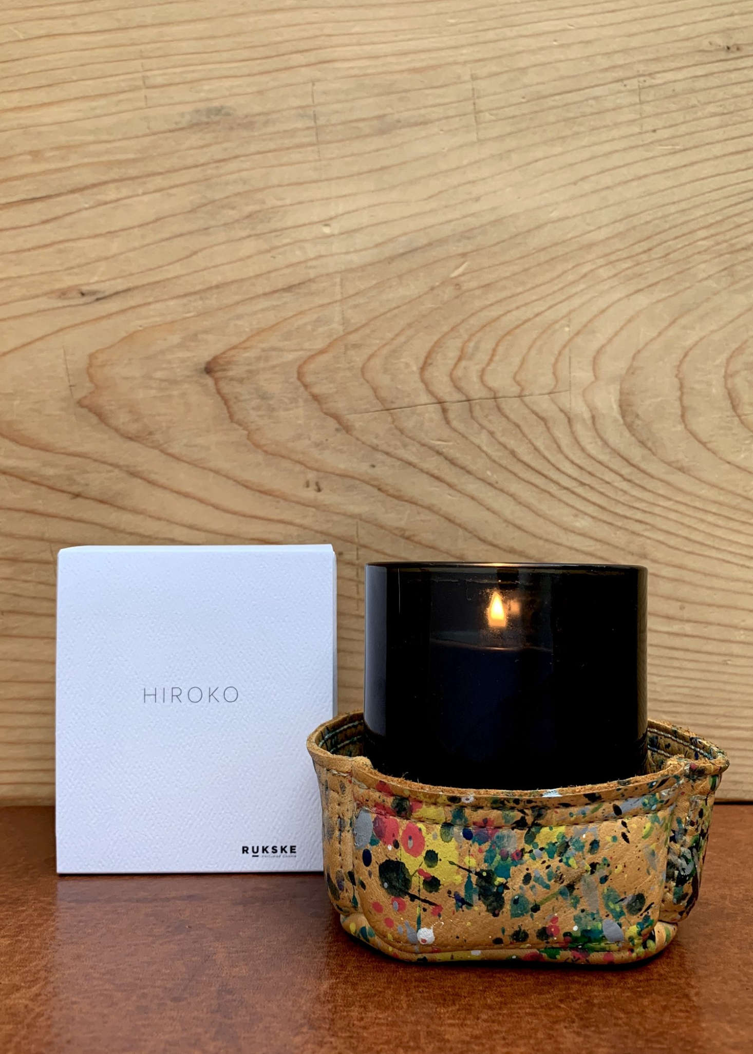 Some of us at Remodelista are not enamored of cloying floral scented candles; for the desert-minded, we are in favor of the Rukske Hiroko Candle ($60) from RTH in LA, an incense-inspired fragrance with herb, citrus, patchouli, and woody notes.