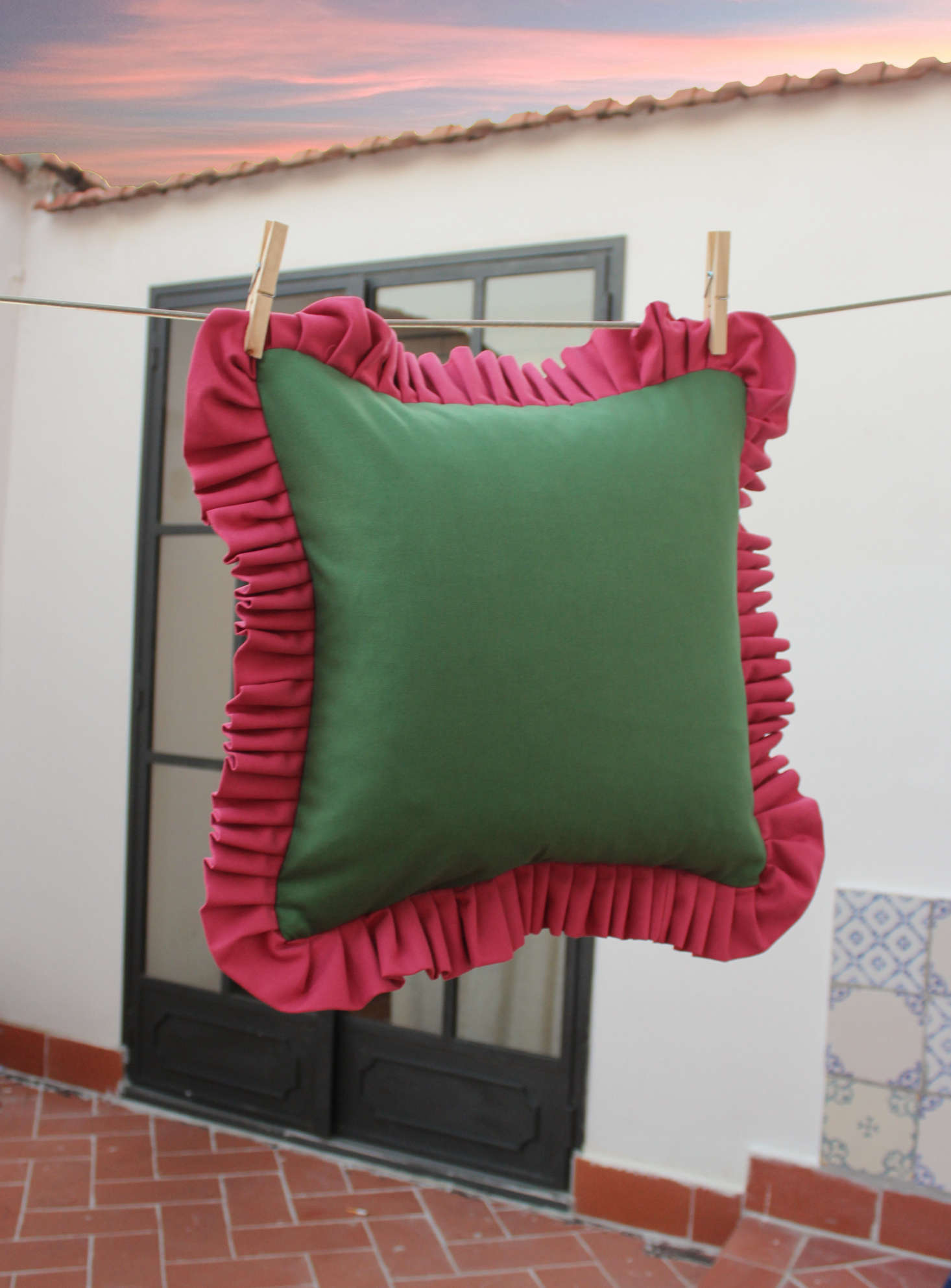 In Casa By Paboy cushions are priced at €85 for the ruffled versions, €75 for fringed, inserts not included—and yes, he ships all over. (Shipping to the States start at approximately €.) Paboy&#8