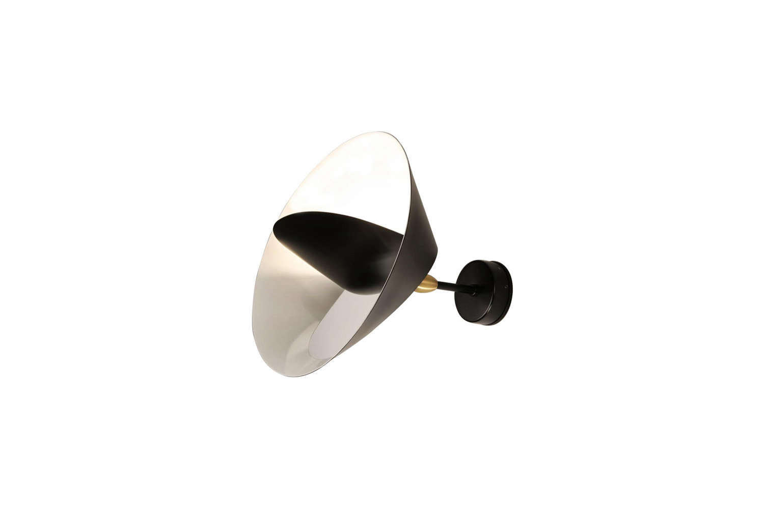 The midcentury French Serge Mouille Saturnus Wall Sconce is $