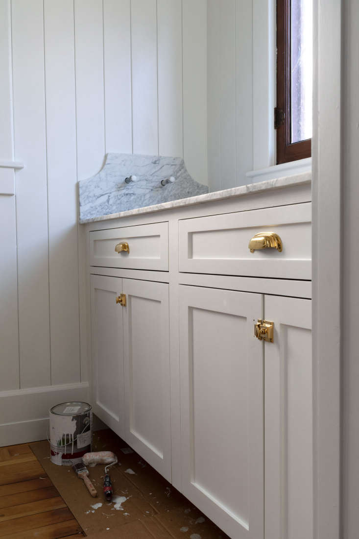 The pantry had been the laundry when the couple bought the house in . For better ground floor flow, they moved the laundry to an adjacent space. Here's how Garrett DIY'd the pantry.