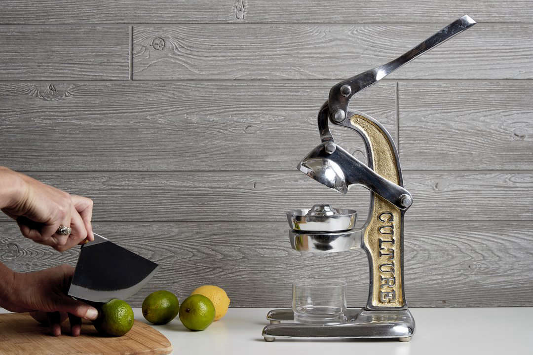 The small Artisan Citrus Juicer is .5 inches tall; $90 from Verve Originals.