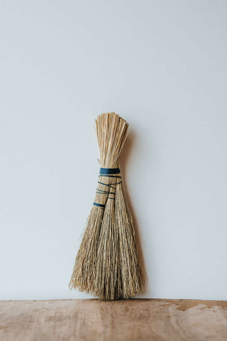 the wilder broom (\$\10) is wrapped with indigo dyed organic linen and has a sm 15