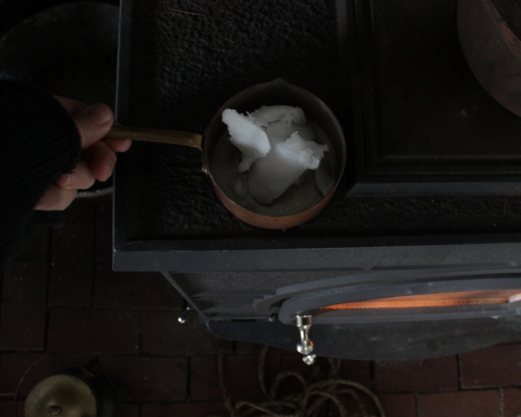 &#8\2\20;to add moisture back into the rope and soften it, we heated coconu 13