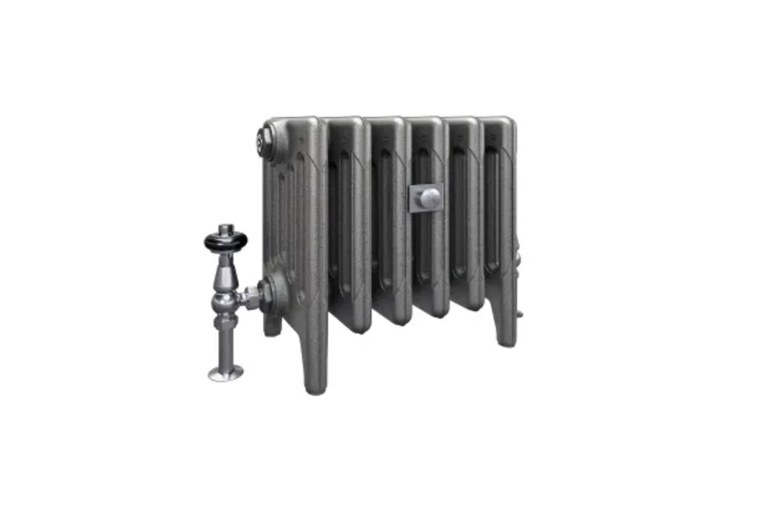 The black-painted radiator is from Castrads: the Mercury Radiator comes in a range of sizes/columns through Castrads.