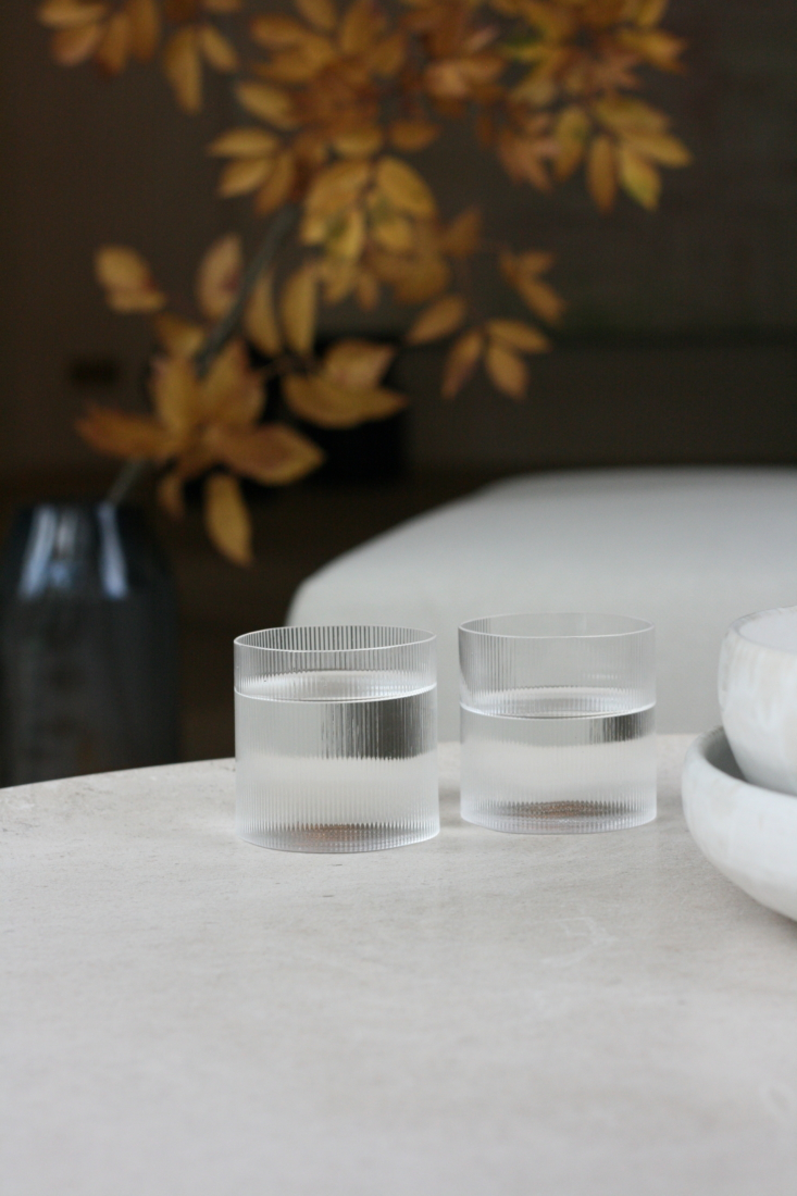 """the straightforward design of the circle glass collection aims to create """"a f 9"""