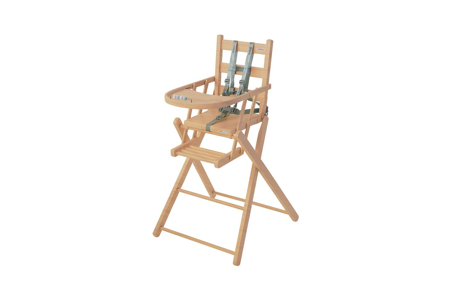 The Combelle Sarah Folding High Chair in Natural is $9 at Smallable.
