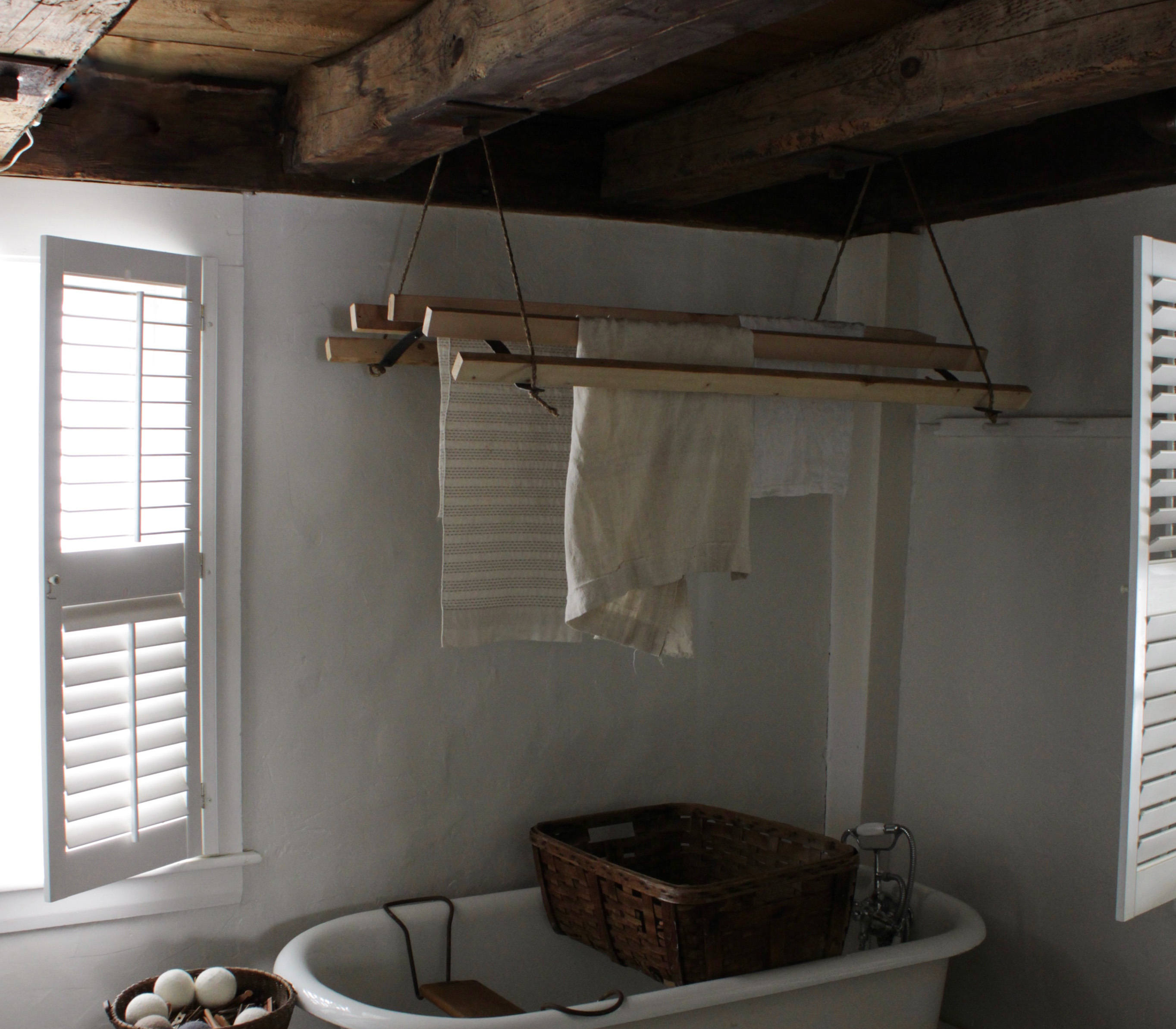 DIY: A Clothes-Drying Rack Made the Old-Fashioned Way on a Maine Farm - Remodelista
