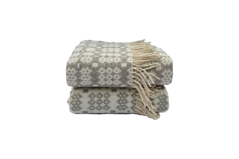 From Felin Fach in Wales, the Garreg DDU Welsh Blanket is £5 Felin Fach.