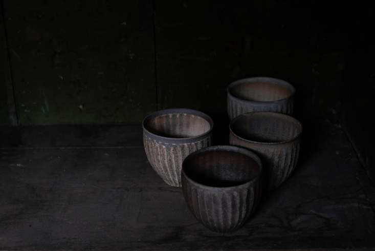 fluted yunomi, or handleless teacups, are \130 euros each. 18
