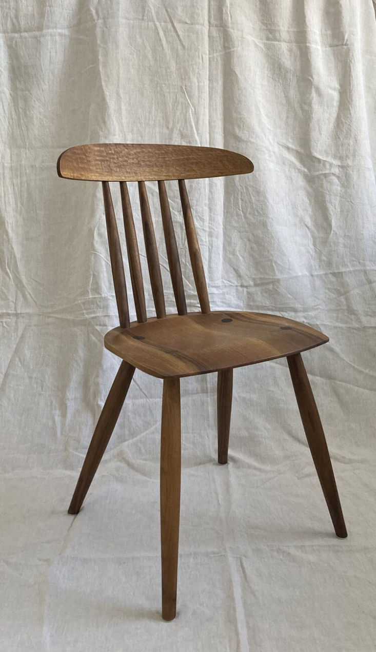 AHandcrafted Walnut Chair (€loading=