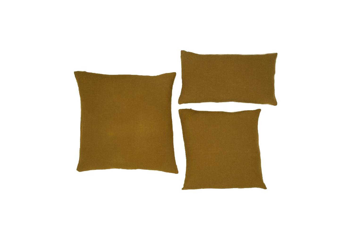 Simple Linen Pillows in Bronze are $85 at Hawkins New York.