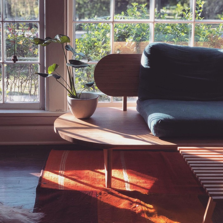 prototypes of a sofa and slatted coffee table. 14