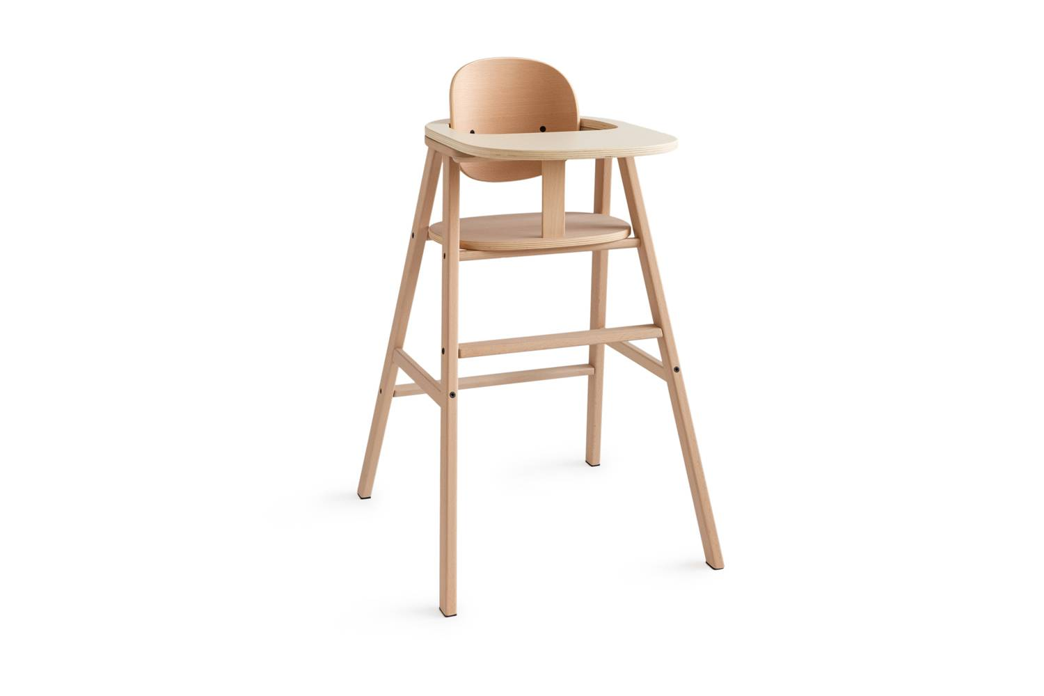 The Nobodinoz Growing Green Adjustable Solid Wood High Chair is $9 at Smallable. The Wooden Tray is an additional $59.