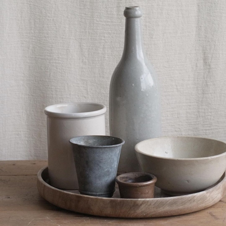 A collection of ceramic vessels from France, Germany, and England.