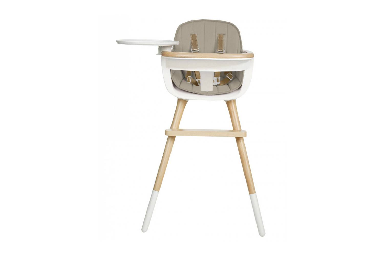 The Ovo Beechwood High Chair, shown in beige but available in six different colors, is $574.98 at Micuna.