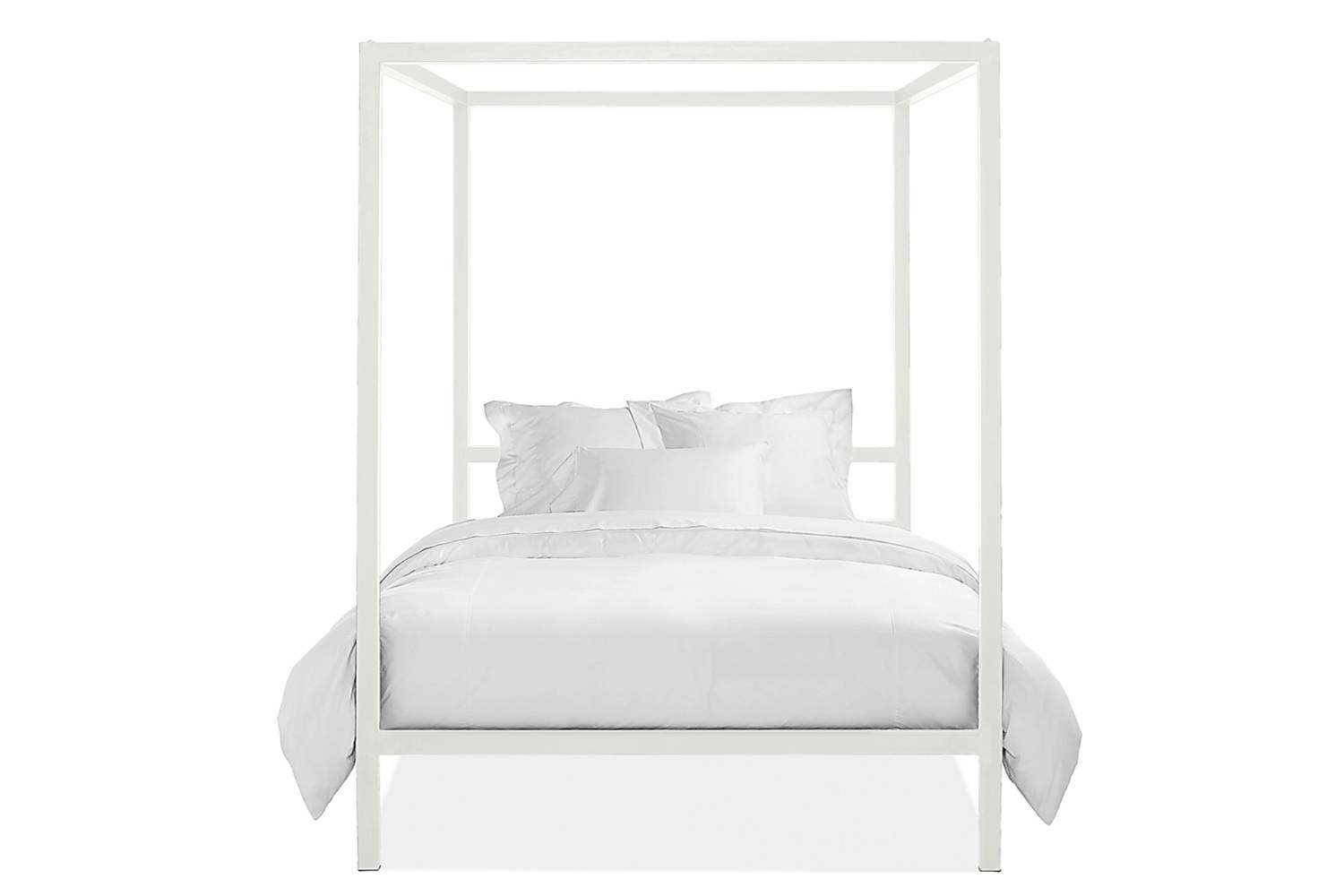 From Room & Board, the Architecture Queen Bed, shown in white, is $src=