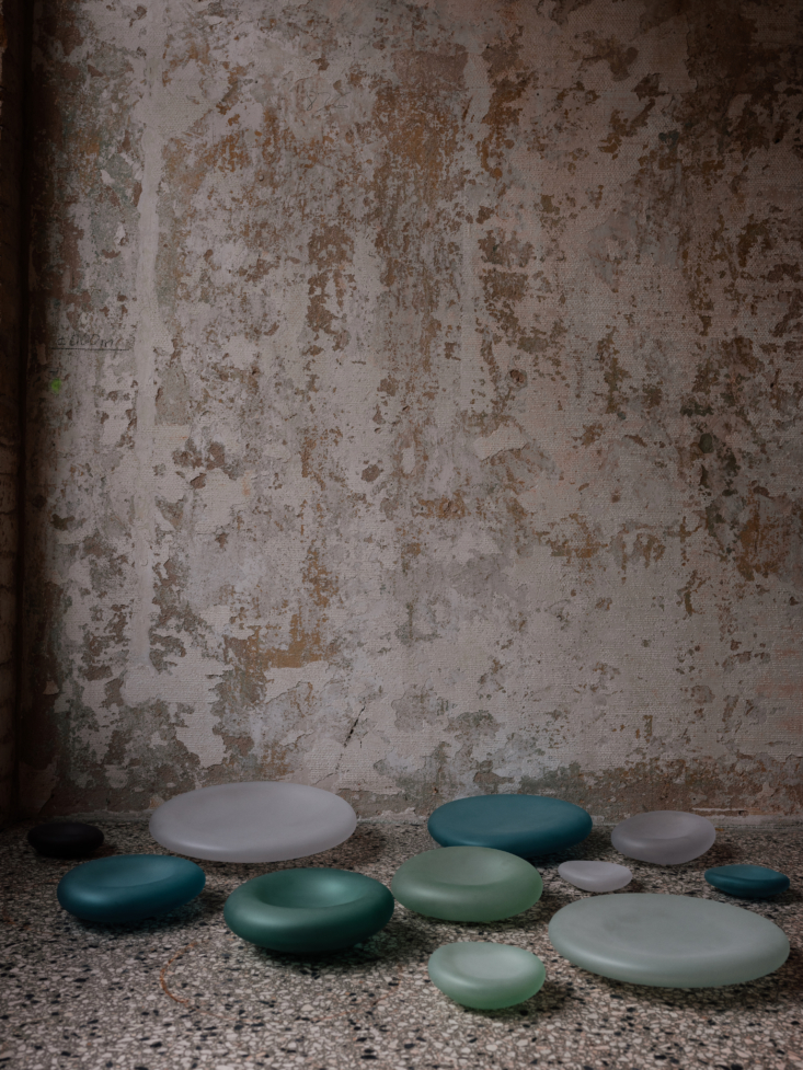 """the sea glass collection is """"softened by sand to resemble the sensuous, smoot 18"""