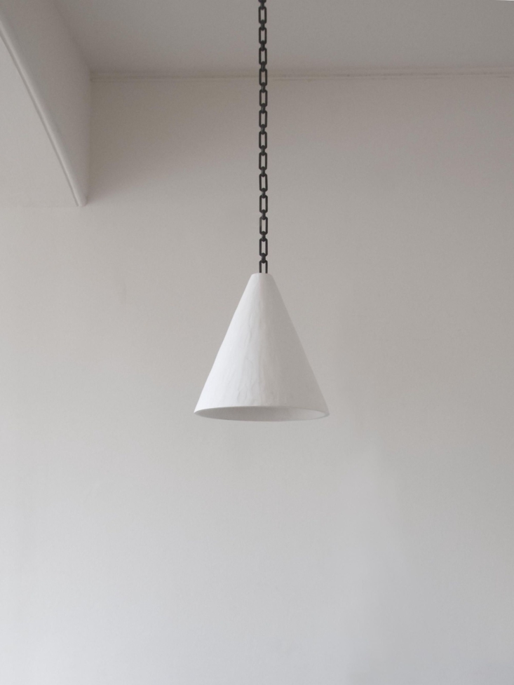 The Plaster Cone Hanging Light is available in three sizes; prices start at £loading=