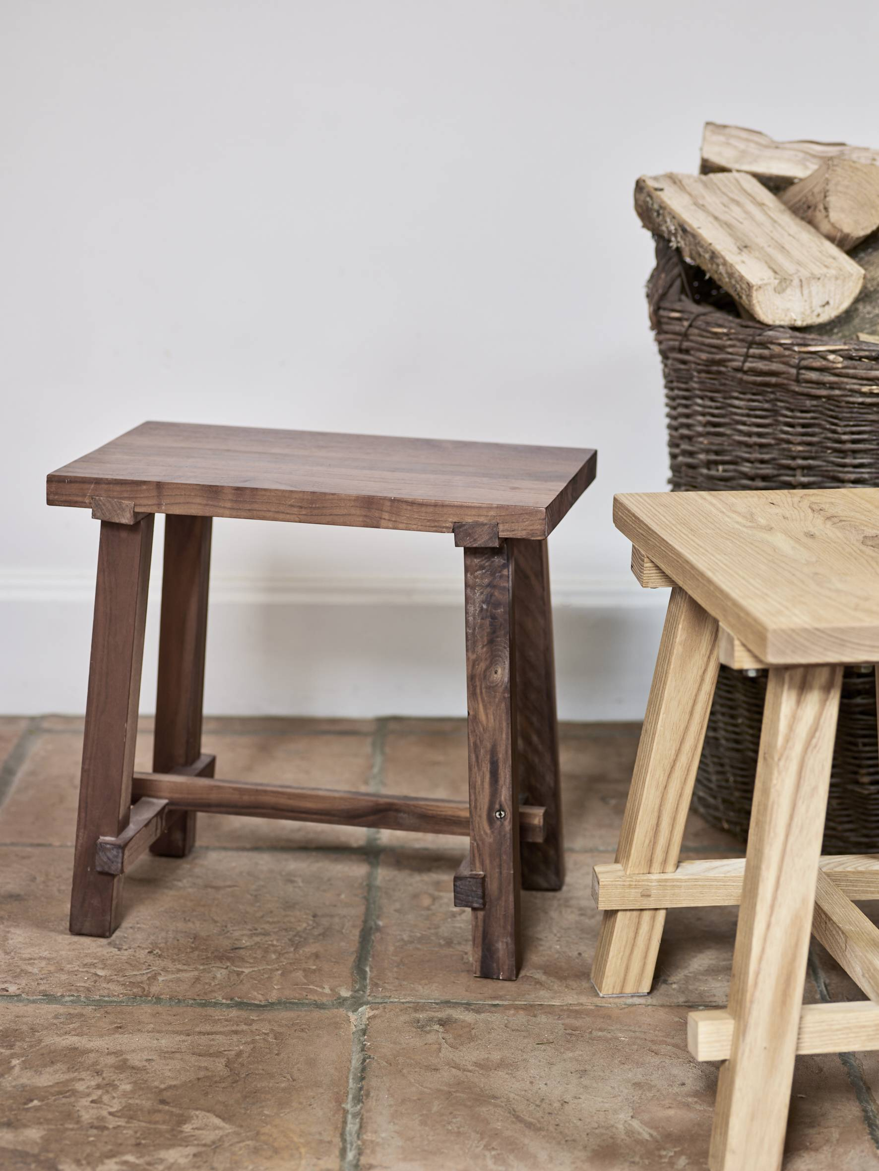 A brace of WoodEdit Stools in Ash and Oak.