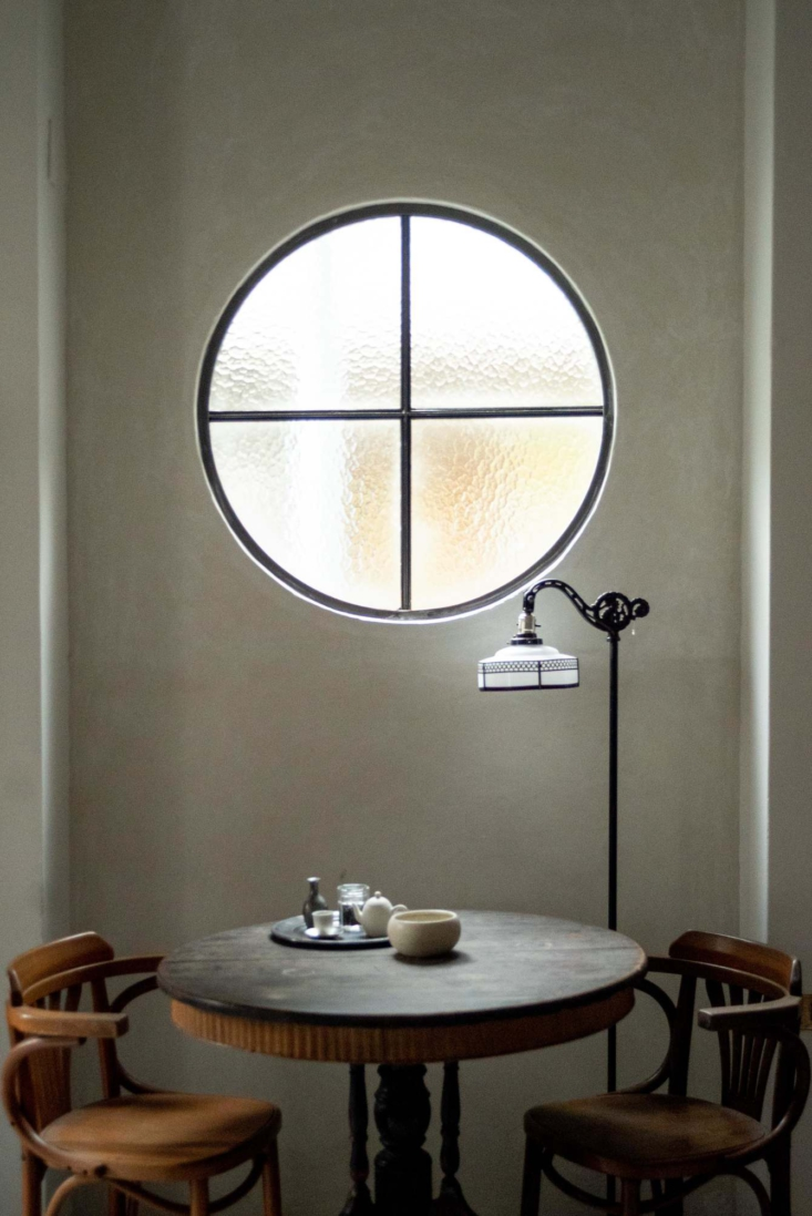 The round window is a based on a traditional Chinese building element; &#8
