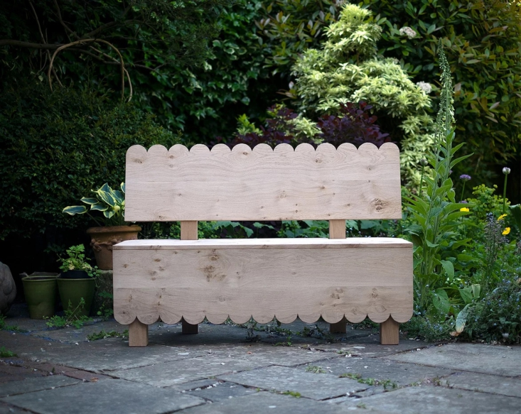 london furniture makers bibbings & hensby&#8\2\17;s scalloped bench is  23