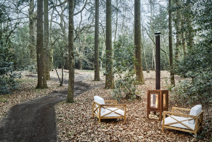 Parts of the woodland were cleared to create a usable park, complete with intimate paths.