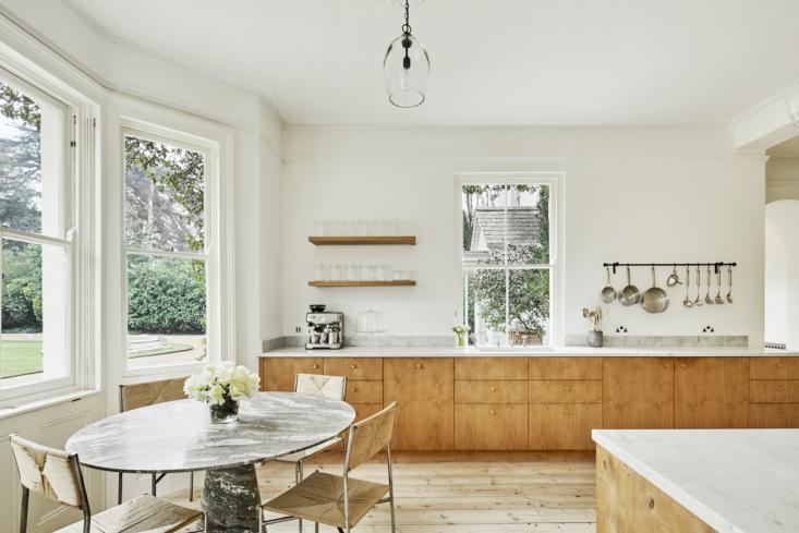 The custom-made smoked-oak kitchen cabinets are by Københavns Møbelsnedkeri.