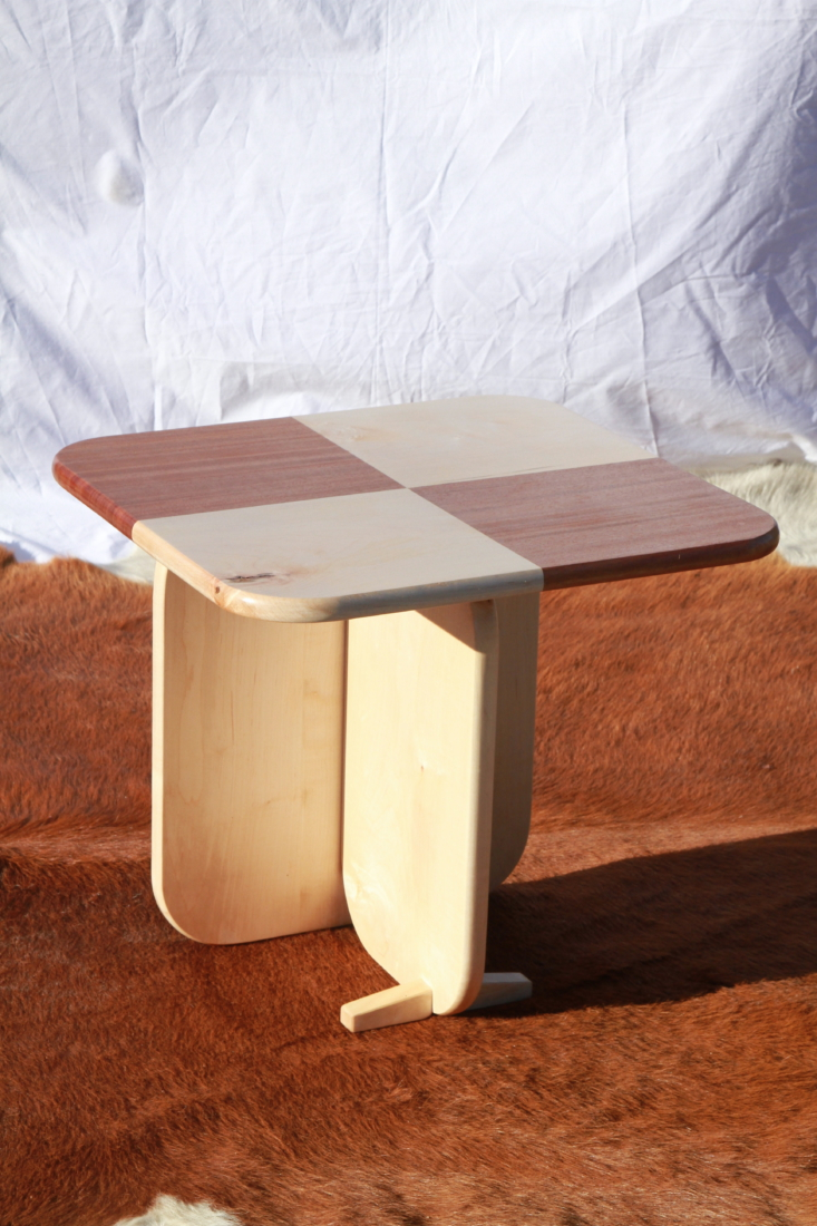 fernweh tricksy checkered side table 2