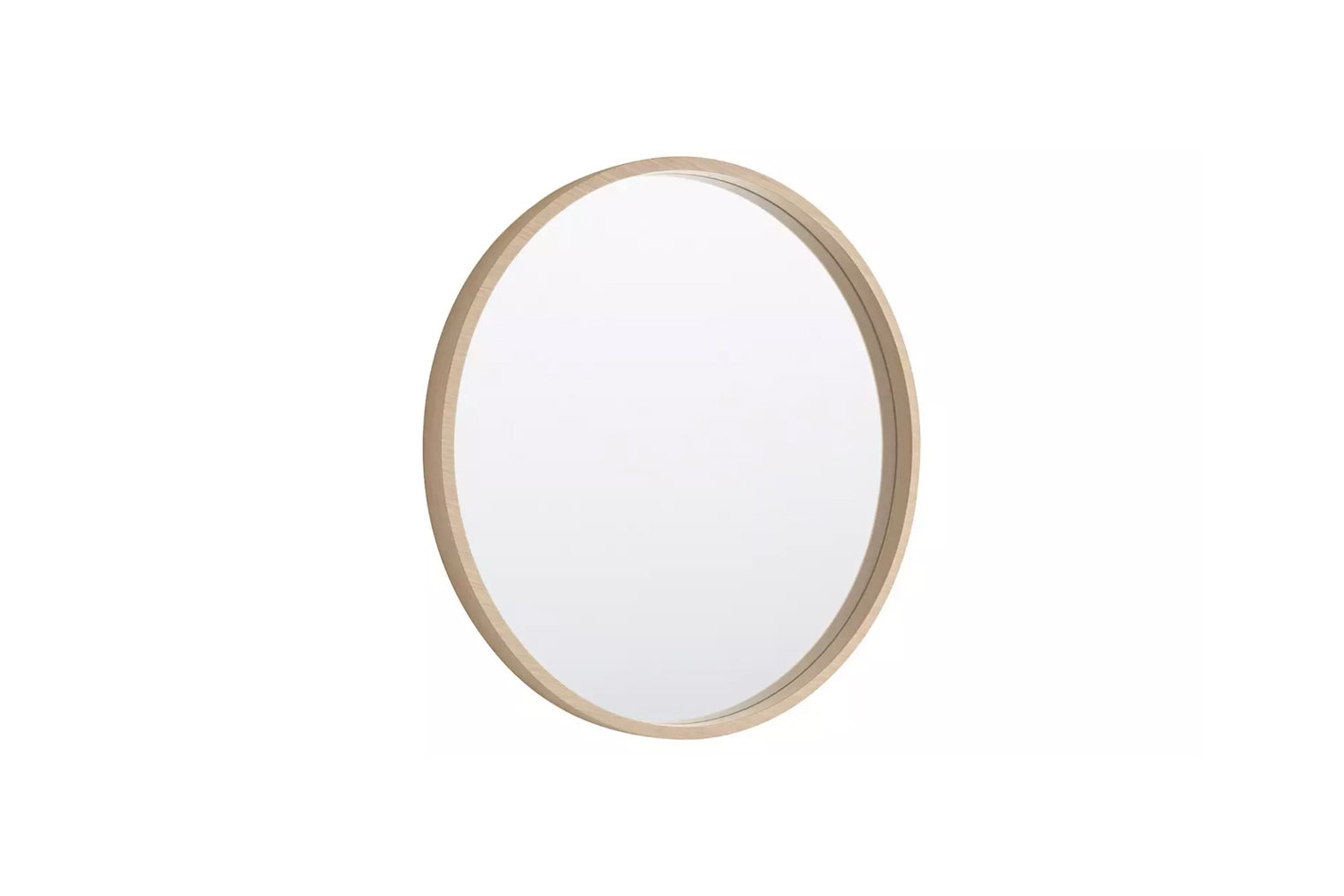 From Habitat the Ariano Maple Veneer Round Wall Mirror is £95.
