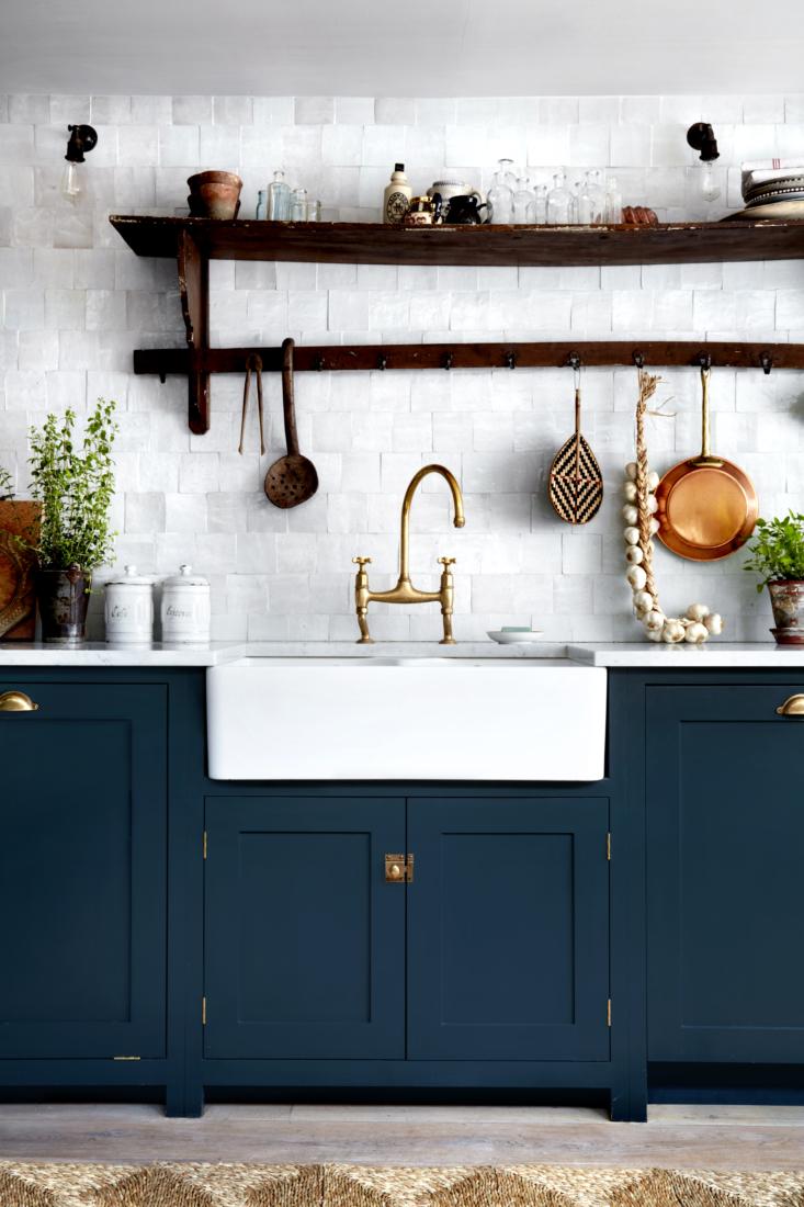 The kitchen cabinets are deVol&#8