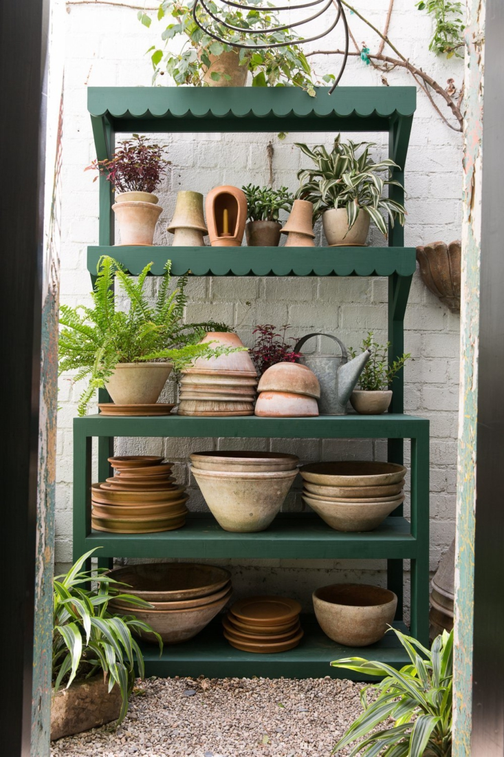 a painted pine potting table by la interior designer shopkeepers—and stars of 22