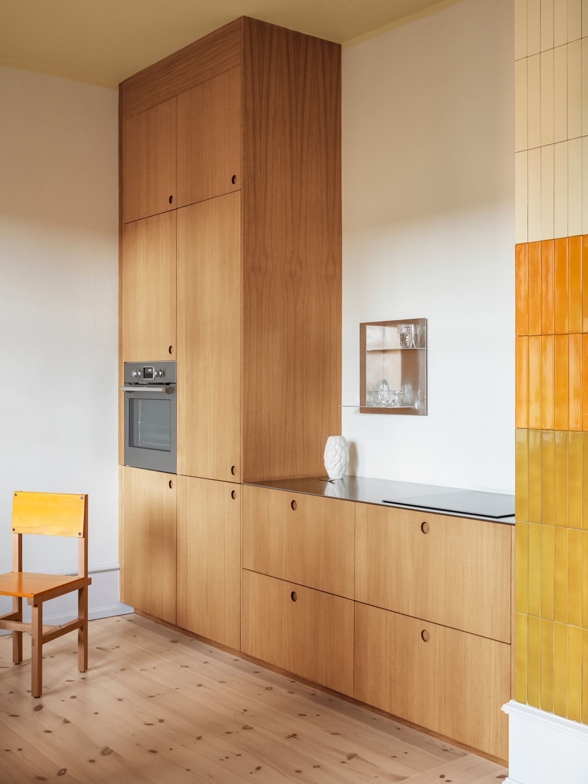 Kitchen of the Week: A Sunny-Hued Kitchen in Copenhagen for an Art Director - Remodelista