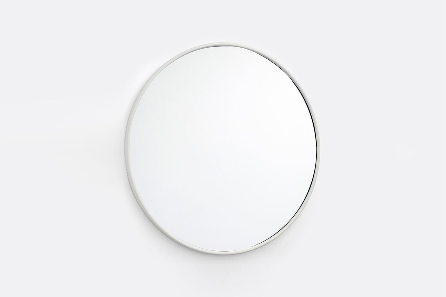The Round Modern Powder Coated Framed Mirror is $loading=