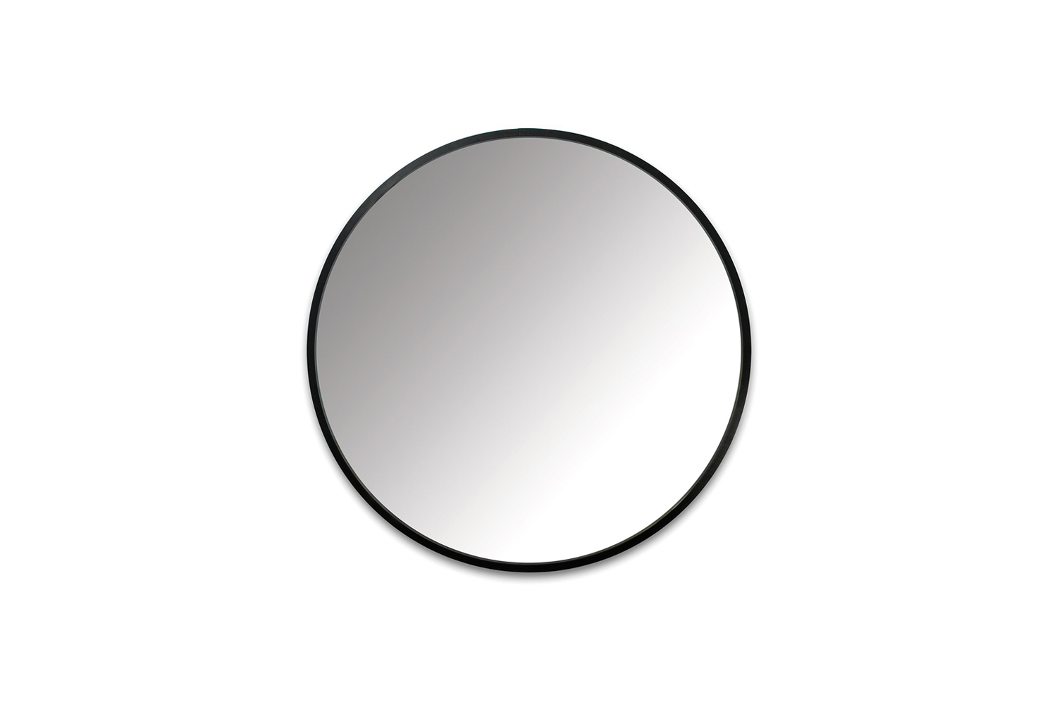 The Umbra Hub Wall Mirror is finished in black rubber for $0 at Horne.