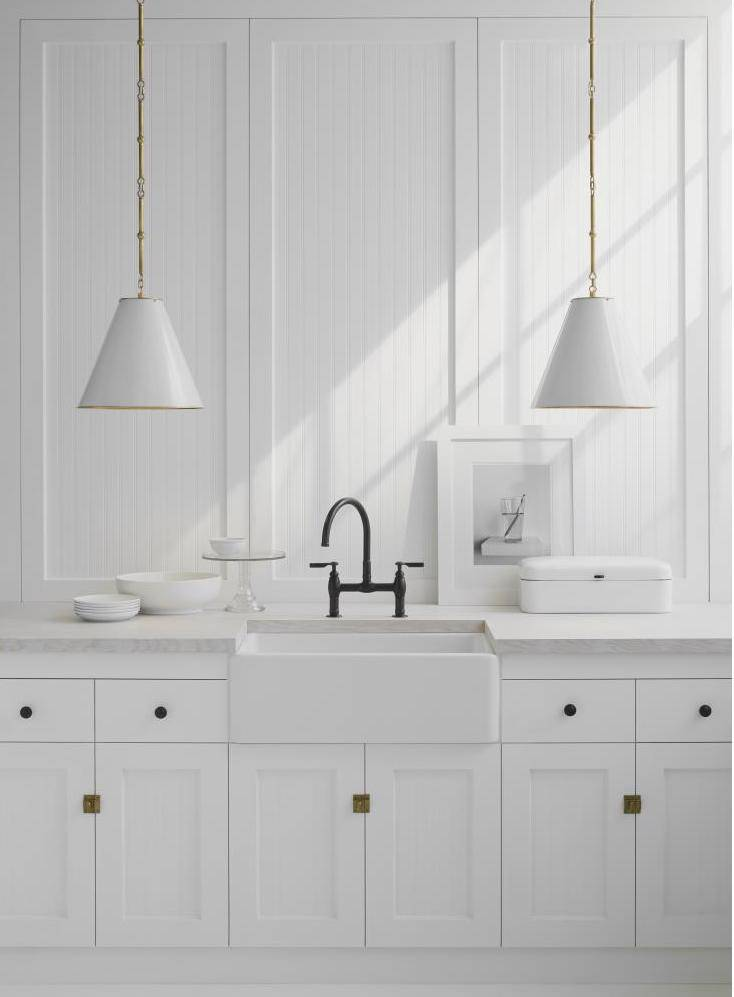 The Goodman Pendant line is made in China and starts at $899 for the smallest size from Circa Lighting.