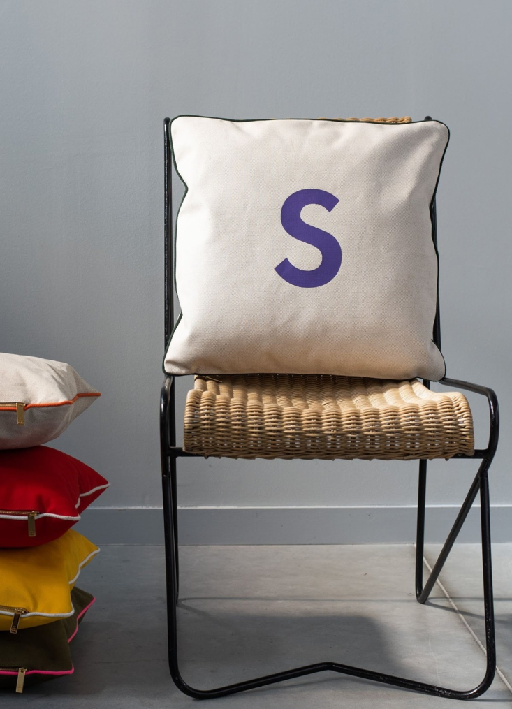 The customizable canvas Cushion Cover is €95.