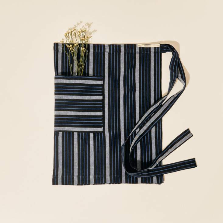 and another of tensira&#8\2\17;s new offerings: the half apron in blue and  19