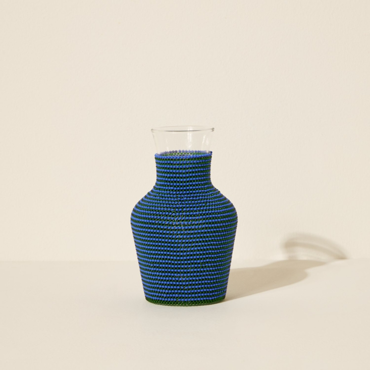 above: we like siafu home's hand beaded water carafes, made from recycled gla 15
