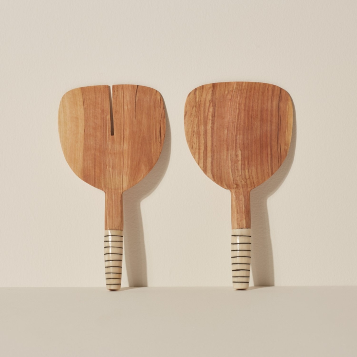 above: siafu home&#8\2\17;s punda milia server (\$50) is carved from olive  18