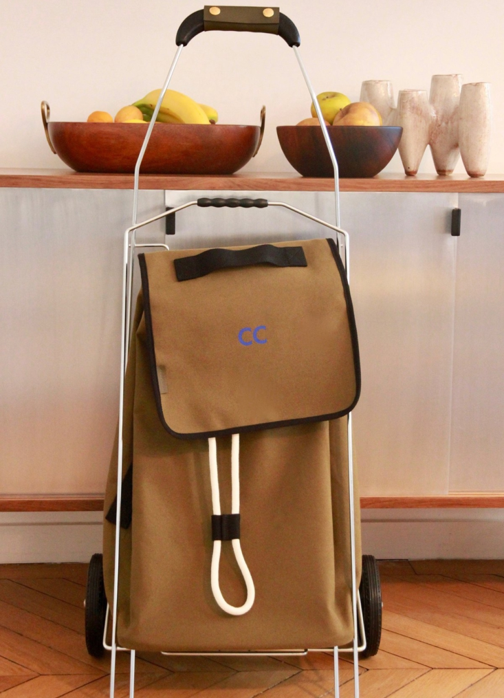 The canvas/linen Shopping Trolley is €495.
