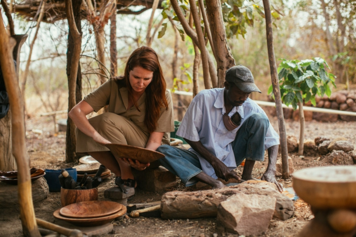 """amadou at work carving bowls by hand: """"no complex machines. no fancy gadgets. 16"""